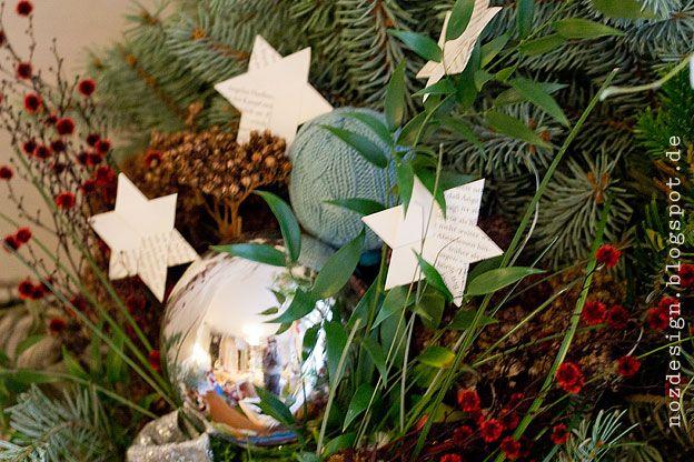 Stern falten, Weihnachtsstern, basteln, Papier, Recycling