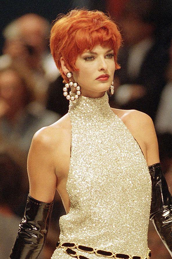 Linda Evangelista rocking the red hair! | Linda ...