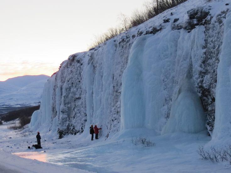 Cascate ghiacciate - Ice waterfalls (Gabriele Formentini, Abisko)