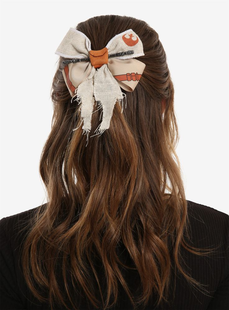 Star Wars The Force Awakens Rey themed hair bow at Box Lunch