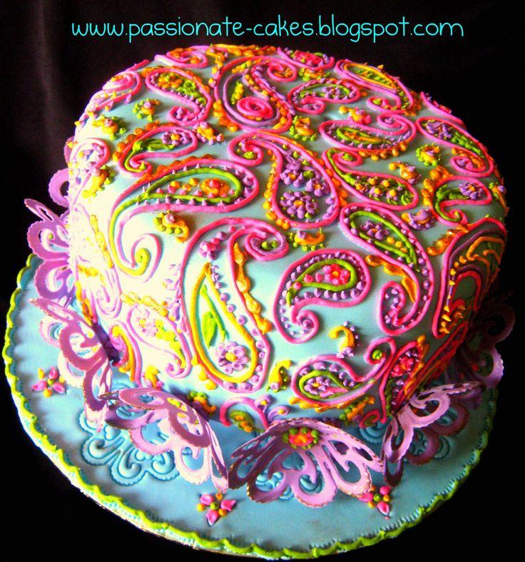 Beautiful Paisley Cake!!!