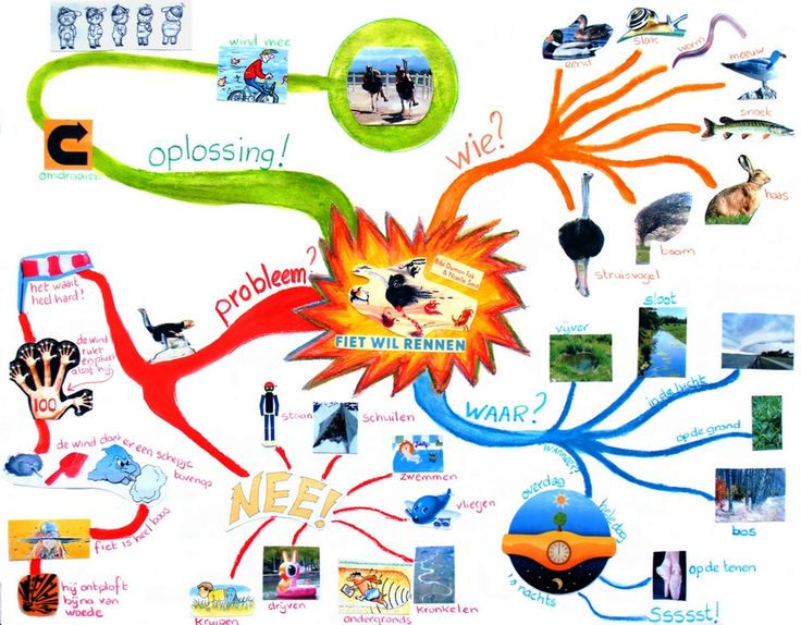 Mindmappen met kleuters. Mindmaps. Zie ook artikel in Praxis op deze site.