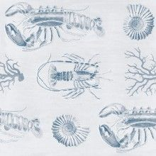 Tapet designer Seaside Lobster Blue, MINDTHEGAP