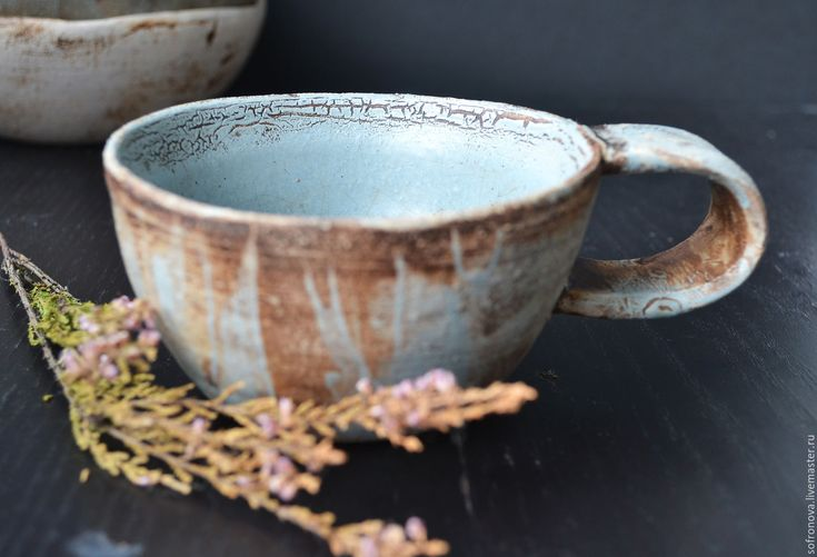 Купить Винтажные чашки - голубой, чашка ручной работы, керамика ручной работы, Керамика