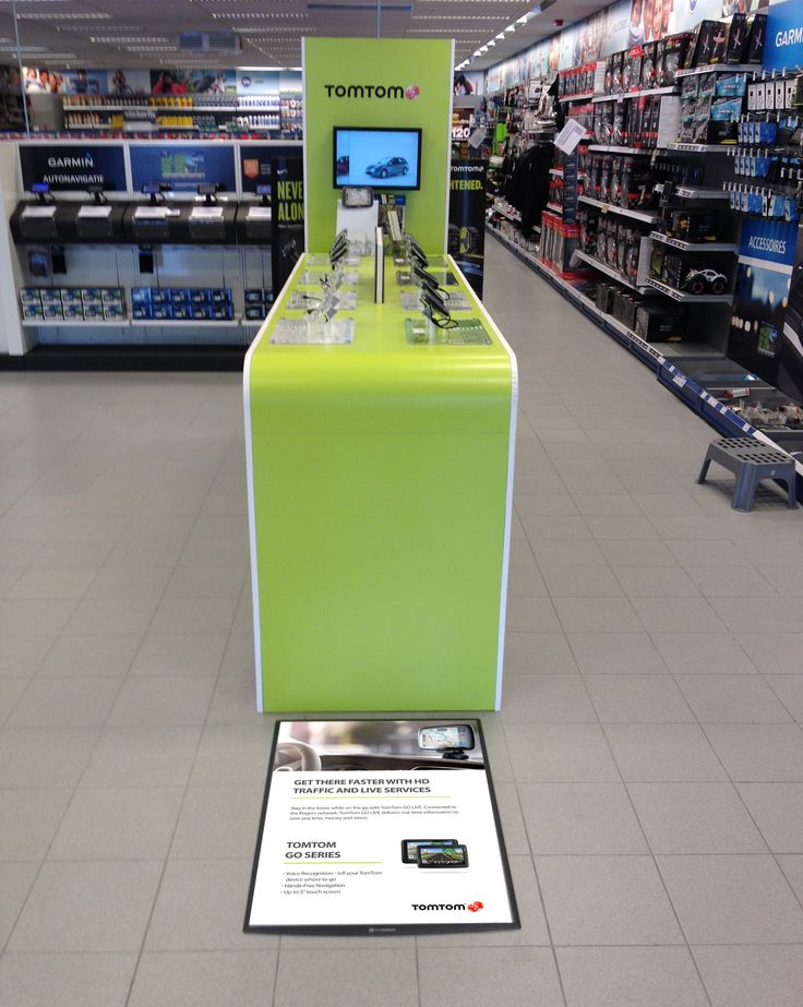 FloorWindo increases sales of GPS units. Shoppers always look at the floor, Take advantage with FloorWindo