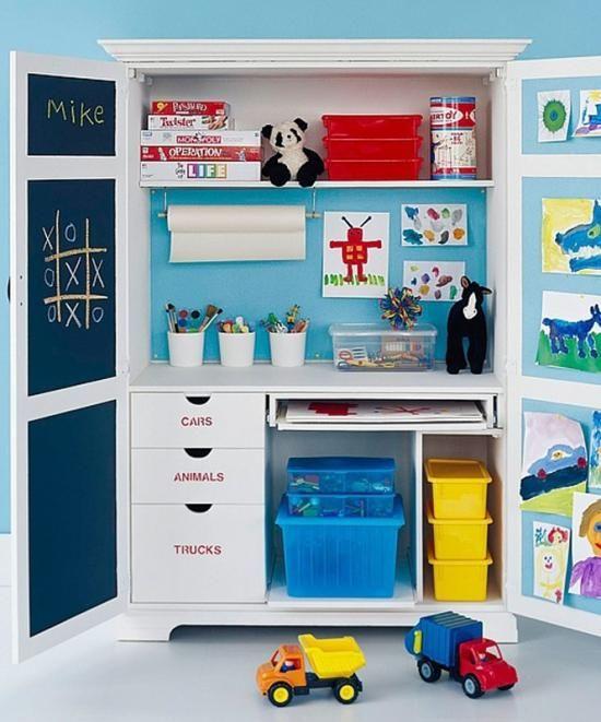 Le bureau dans une armoire for kids pour les enfants - Bureau dans armoire ...