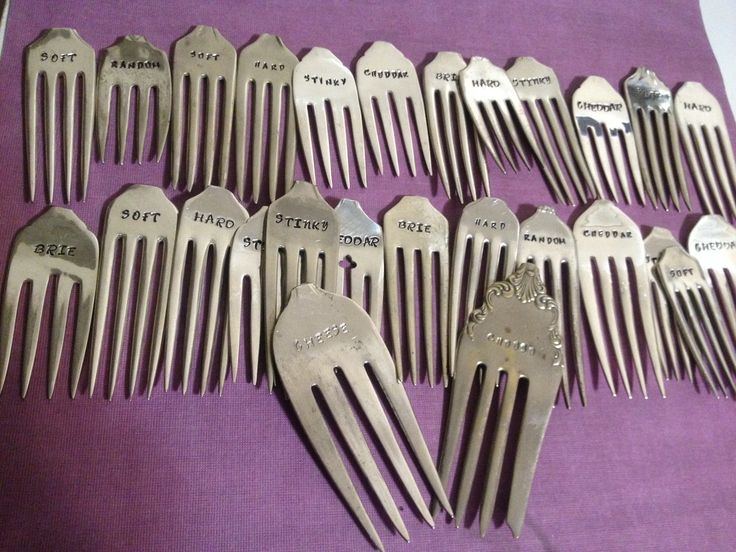 Cheese forks all ready to be packaged for market display!  www.facebook.com/hammeredgifts
