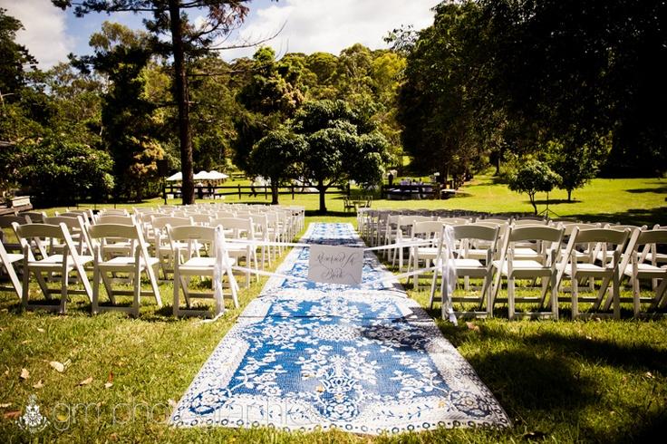 Stunning blue ceremony runner