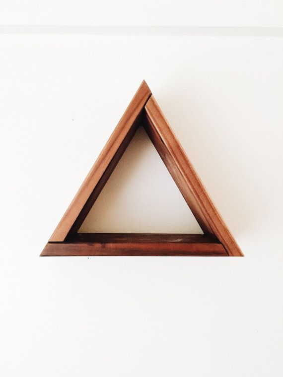 Captivating This Red Cedar Triangle Shelf Looks Great On Any Wall Or Tabletop.  Handcrafted, Sanded
