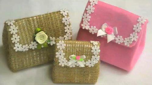 Armario Banheiro Aluminio Astra ~ mini bolsinha feita com caixa de leite Artesanato Reciclagem (3) Crafts Recycling