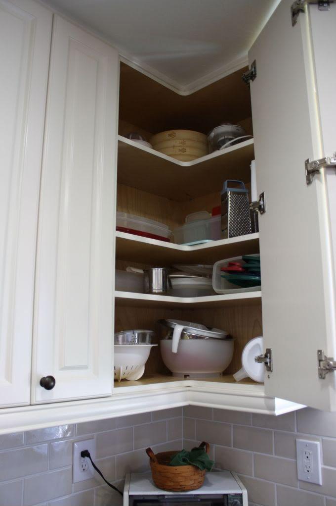upper corner cabinet kitchen corner solutions pinterest sinks corner and ranges. Black Bedroom Furniture Sets. Home Design Ideas