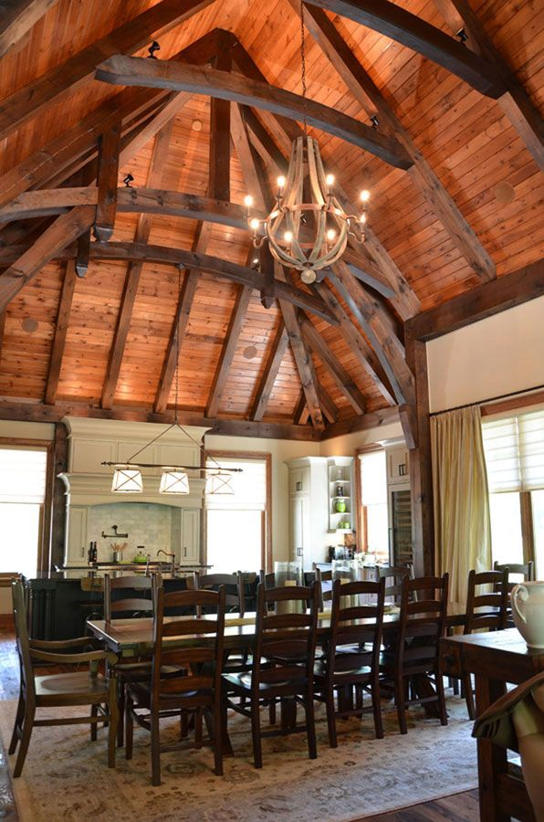 Timber frame interior design normerica authentic timber for Timber frame home interiors