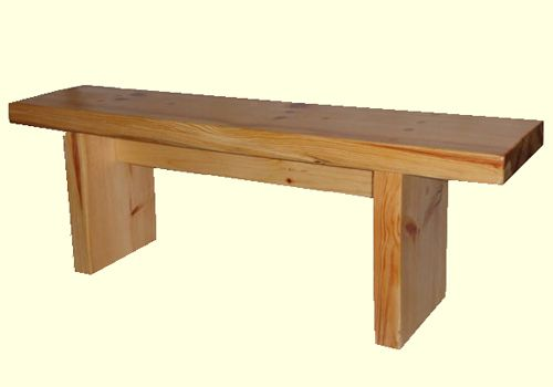 Simple outside wooden  Bench | Solid wooden benches and bench seating for indoors and outdoors