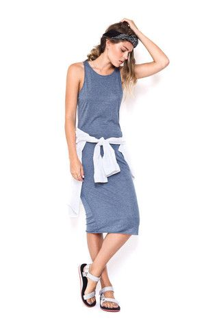 First Base Racer Midi Dress Navy – Eclectic Ladyland
