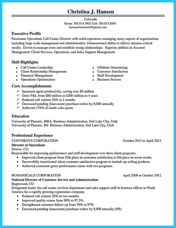 Sample Resume Call Center Agent Objective