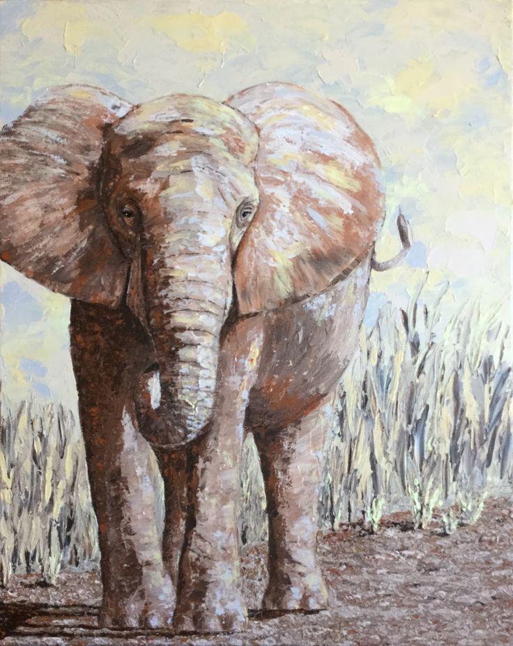 Elephant - acrylic on canvas