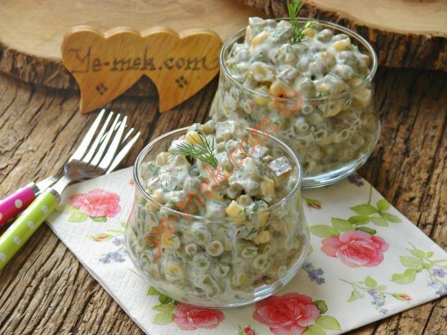 Yoğurtlu Bezelye Salatası Resimli Tarifi - Yemek Tarifleri