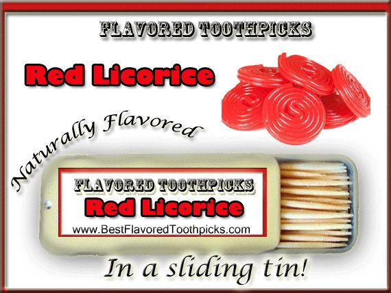 Red Licorice Flavored Toothpicks 70 Flavors by FlavoredToothpicks