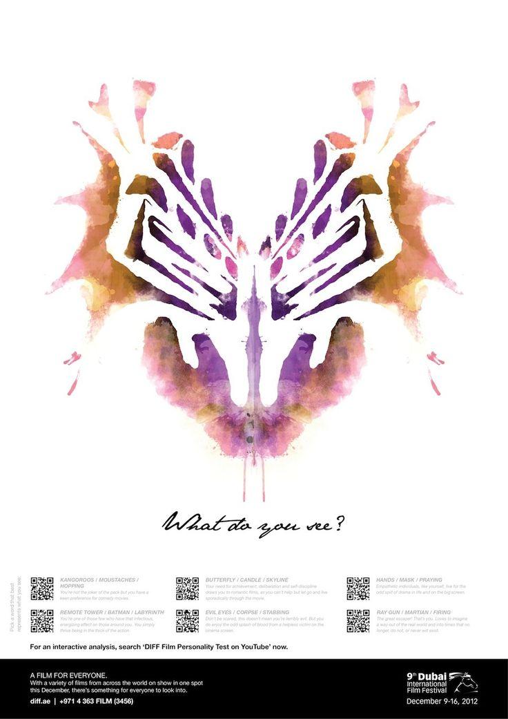 The DIFF Film Personality Test, campanha criada para o  Festival Internacional de Cinema de Dubai pela Leo Burnett.