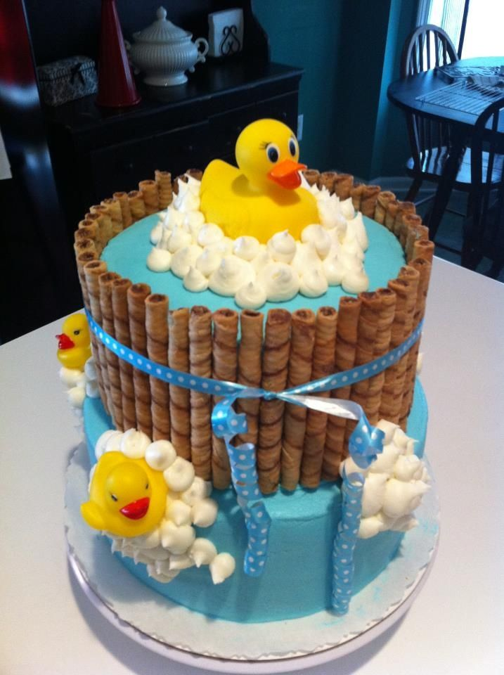 baby shower cakes duck theme | My friend Sharyl made this cake for our Ducky Shower for Asa.