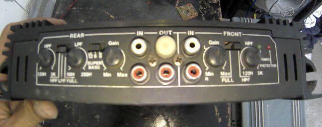 subwoofer car amplifier audiobose v12