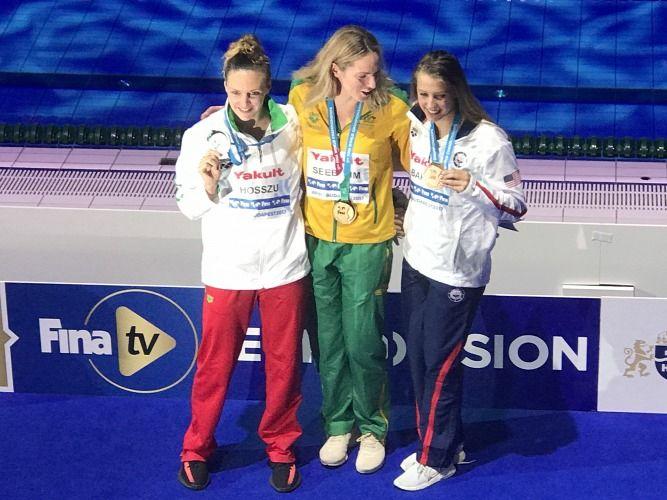 Hosszú Katinka világbajnoki ezüstérmes 200 háton