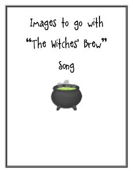 """The Witches Brew  Here are hand drawn images for the song, """"The Witches Brew"""". It is $1.00"""