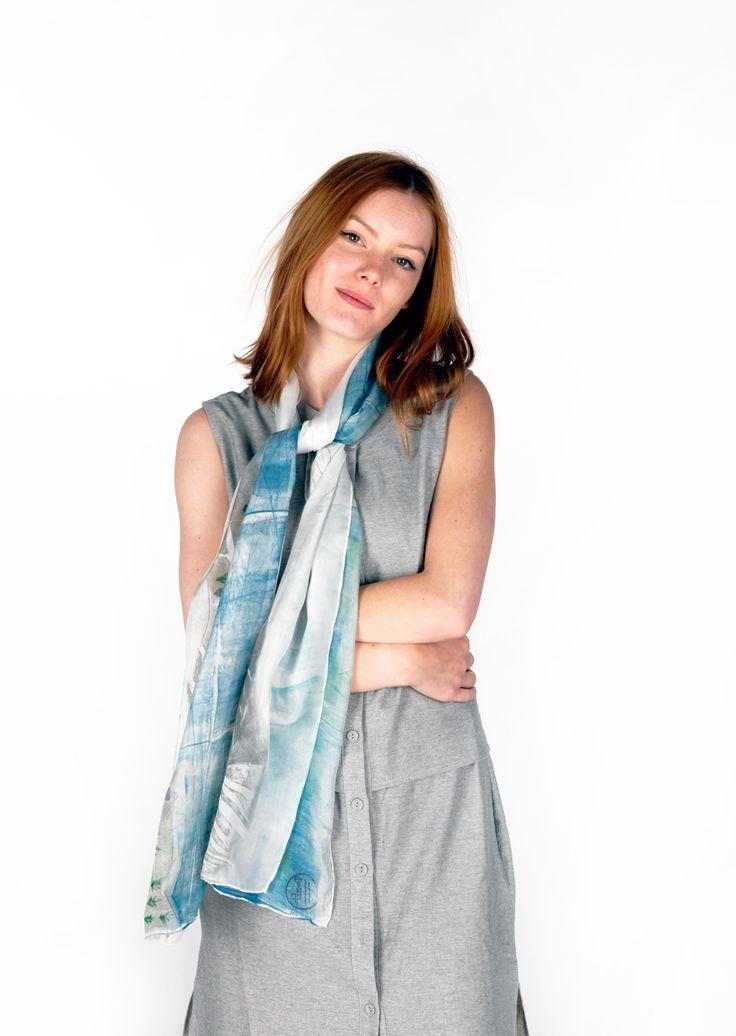 Daubs & Dashes: Dalsa silk scarf - Iceland Collection A/W 16