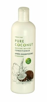 Inecto Pure Coconut Conditioner 500ml Inecto Pure Coconut Moisture Infusing Conditioner that nourishes hair and smoothes frizz. Contains 100% pure coconut oil to smooth and nourish dry, damaged hair. Paraben free