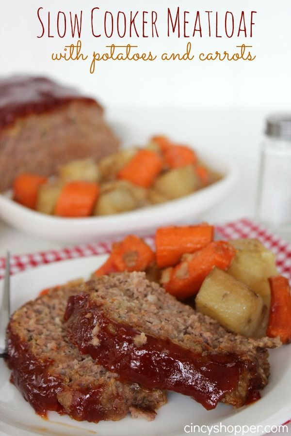Slow Cooker Meatloaf Recipe. This crock-pot recipe turned out GREAT! Everyone came back for seconds.