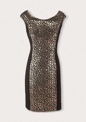 golden evening dress fashion mode kleider comma h w 2014 elegant. Black Bedroom Furniture Sets. Home Design Ideas