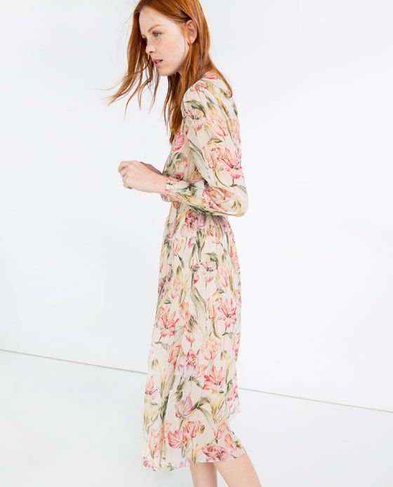 1fa0c529f7c2 Image 1 of PRINTED DRESS from Zara | Say YAS to the Dress | Zara dresses,  Dresses, Fashion