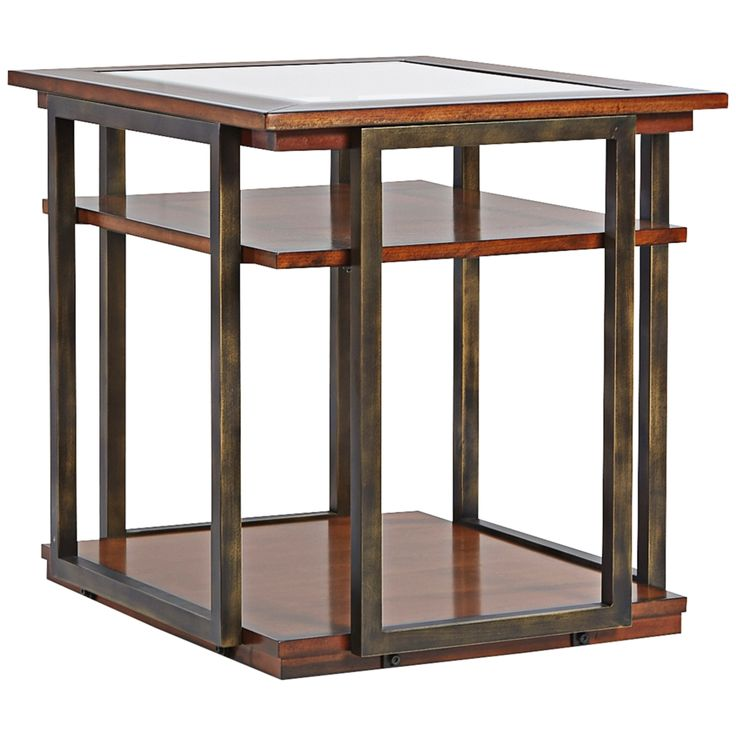 Klaussner Skylines Cherry End Table - Style # 7R376
