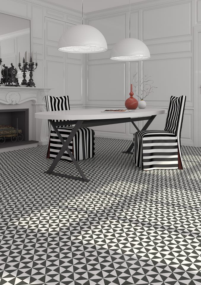 Formes g om triques en noir et blanc envie 2 deco for Moquette geometrique