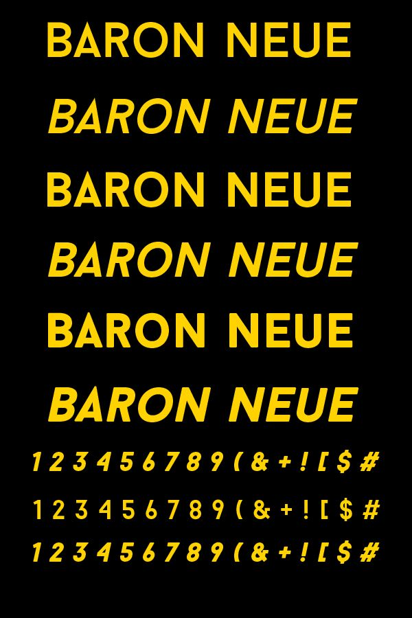 Free Font Of The Day : Baron Neue