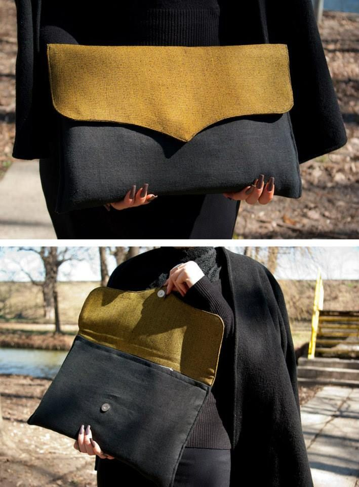 Mustard & pepper clutch