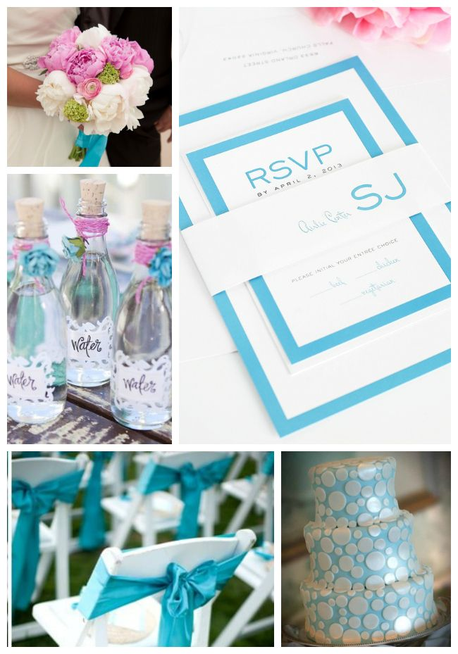 Pool Blue Wedding Inspiration