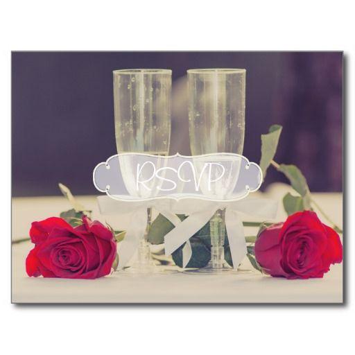 Classy Wedding Invitation RSVP with Photo Postcard