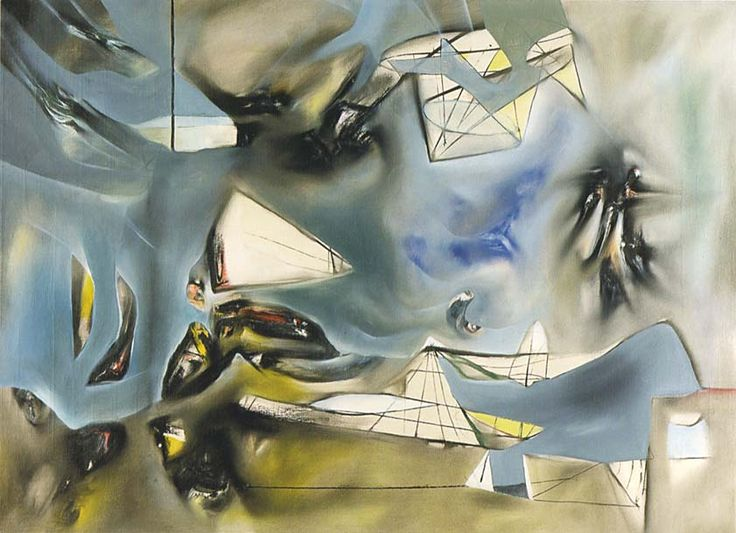 """""""Au centre de l'eau""""  1941  54.7 x 74.5 cm.  Roberto Matta"""