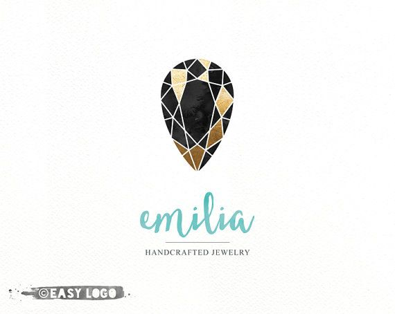 Diamond Logo Design. Gold Foil Logo. Jewelry Design by easylogo