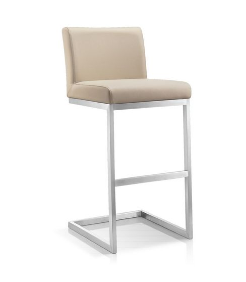 Modern Furniture :: Stools :: KR-20313 Elegant Leather Counter Stool - ARTeFAC USA