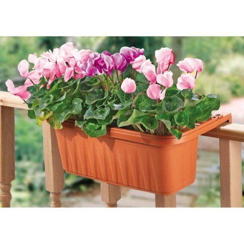 1000 Images About Garden Containers Deck Railing On: Apollo Plastics ADJ20-TERRA Adjustable Deck Rail Planter