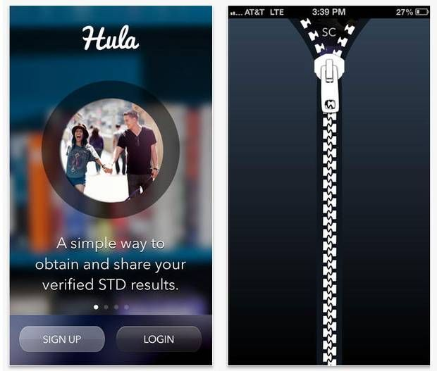 Hula app notifies you when you have an STI and lets you tell others and connect them with local services.