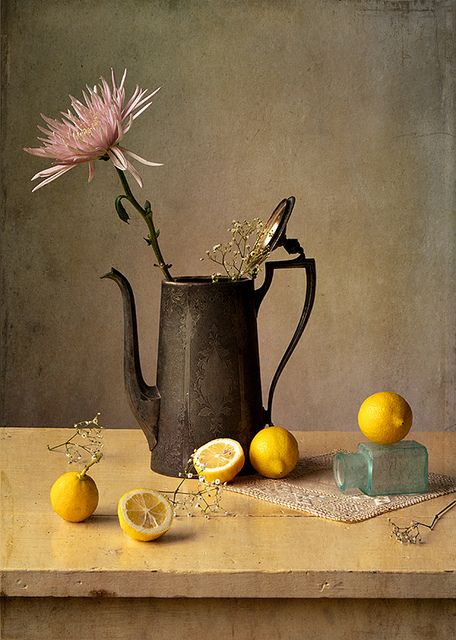 Interesting selection of objects. Get creative with what you choose for your own still-life.