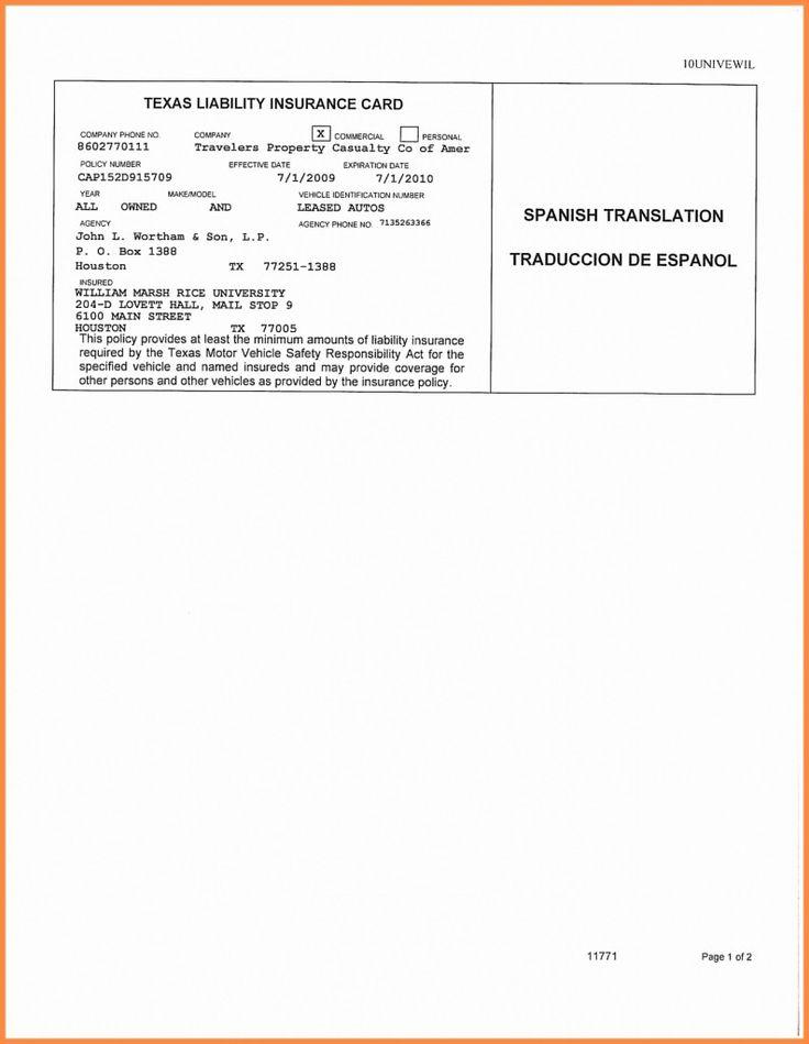 free fake progressive insurance card Printable Fake Car ...