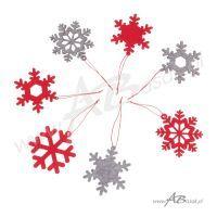 bombka w kształcie płatka śniegu