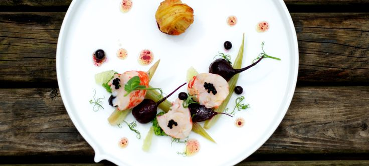 Salad of Lobster, Fennel and Beetroot with Savoury Blackcurrants