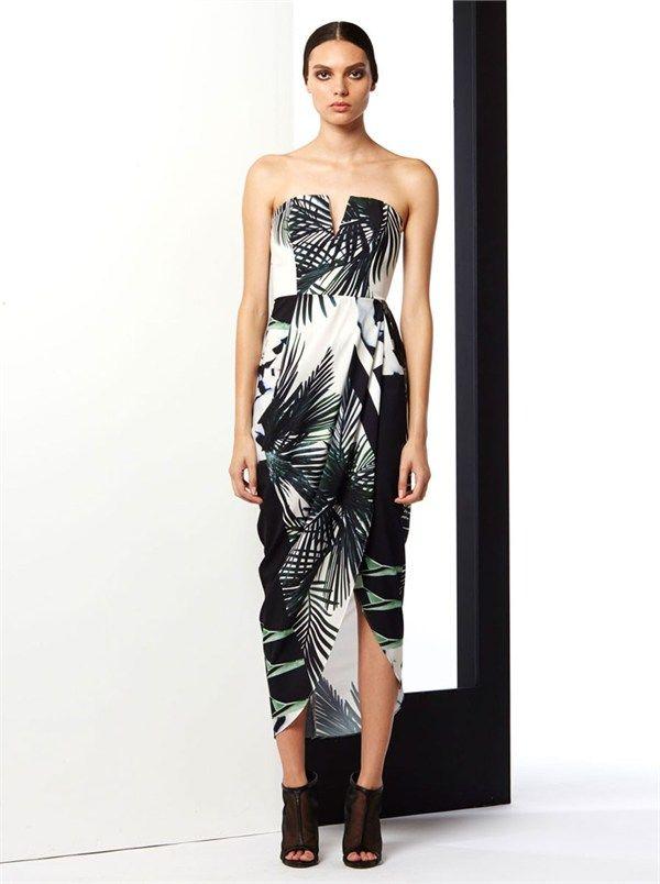 The Savage Draped Bustier Dress by Shona Joy