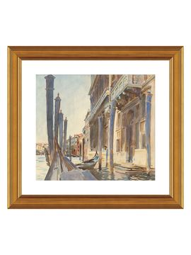 Gondola Moorings on the Grand Canal, 1904/07 by John Singer Sargent (Framed) from Mediterranean Style on Gilt