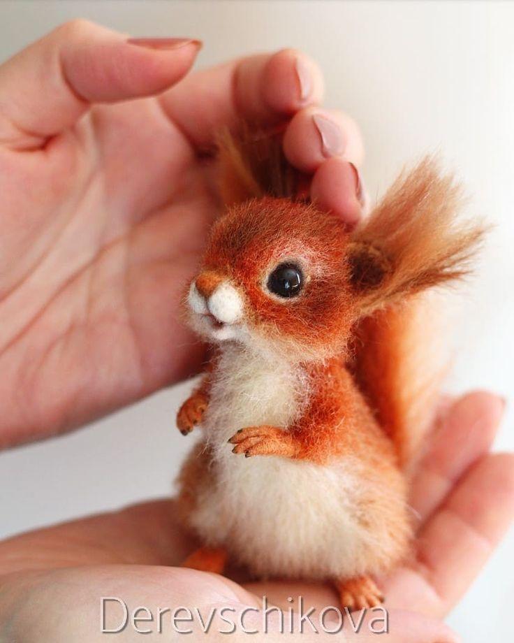 А я предупреждала, что весной будет много белочек Рыжая, нежная малютка Жасмин сделана на заказ. Sold. #squirrel #pets #animals #feltingwool #миниатюраизшерсти #минибелка #белочка #бельчонок #сухоеваляние #игрушкаизшерсти #подарок